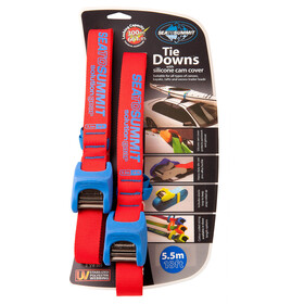 Sea to Summit Tie Downs with Silicone Cam Cover Strap 5,5m Pair, red/blue